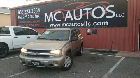 2003 Chevrolet TrailBlazer for sale at MC Autos LLC in Pharr TX