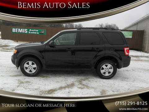 2011 Ford Escape for sale at Bemis Auto Sales in Crivitz WI