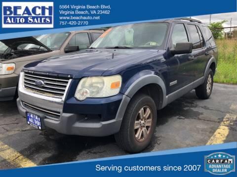 2006 Ford Explorer for sale at Beach Auto Sales in Virginia Beach VA