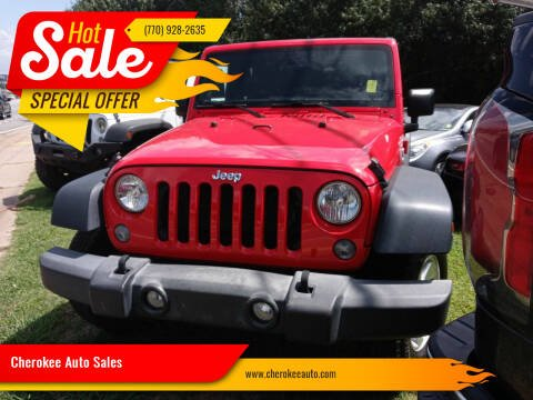 2016 Jeep Wrangler Unlimited for sale at Cherokee Auto Sales in Acworth GA