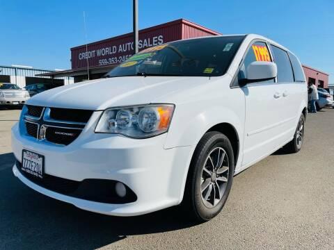 2017 Dodge Grand Caravan for sale at Credit World Auto Sales in Fresno CA