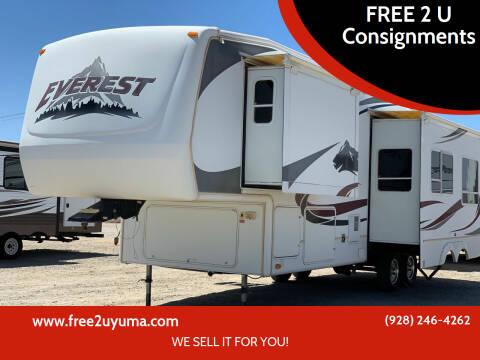 2007 Keystone Everest  for sale at FREE 2 U Consignments in Yuma AZ