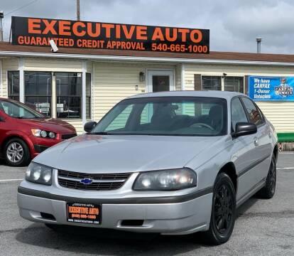 2004 Chevrolet Impala for sale at Executive Auto in Winchester VA