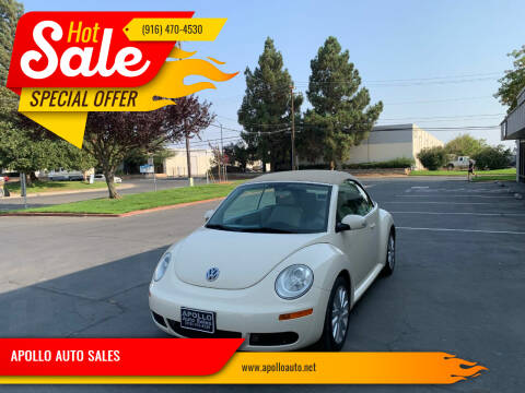 2008 Volkswagen New Beetle Convertible for sale at APOLLO AUTO SALES in Sacramento CA