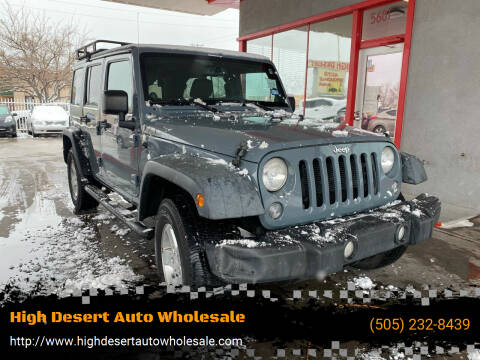 2014 Jeep Wrangler Unlimited for sale at High Desert Auto Wholesale in Albuquerque NM