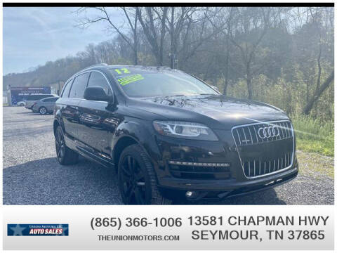2012 Audi Q7 for sale at Union Motors in Seymour TN
