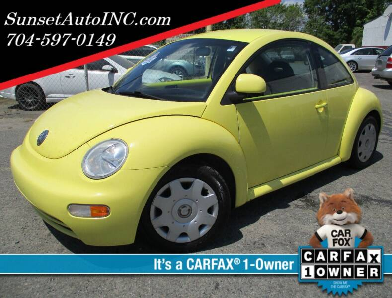 1998 Volkswagen New Beetle for sale at Sunset Auto in Charlotte NC