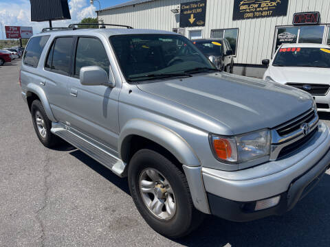 2001 Toyota 4Runner for sale at BELOW BOOK AUTO SALES in Idaho Falls ID
