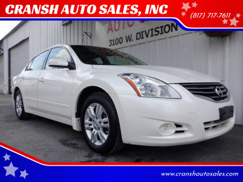 2010 Nissan Altima for sale at CRANSH AUTO SALES, INC in Arlington TX