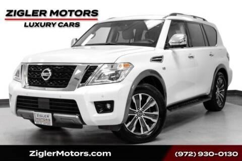2019 Nissan Armada for sale at Zigler Motors in Addison TX