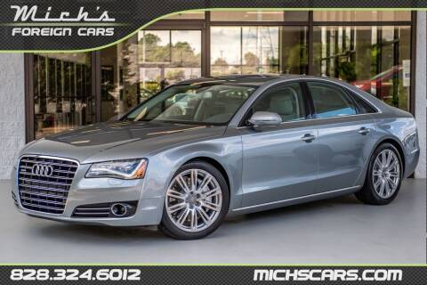 2012 Audi A8 for sale at Mich's Foreign Cars in Hickory NC