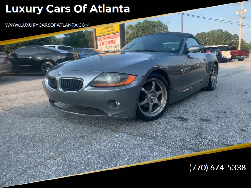 2003 BMW Z4 for sale at Luxury Cars of Atlanta in Snellville GA