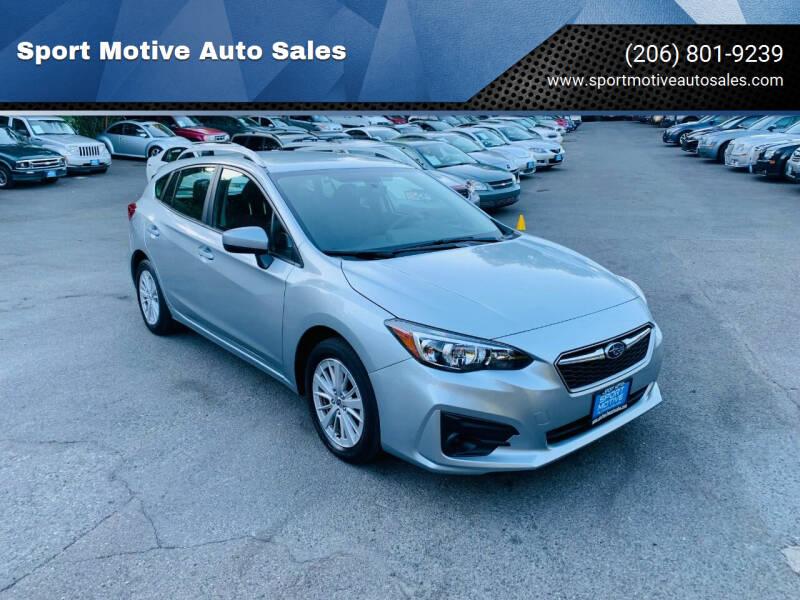 2018 Subaru Impreza for sale at Sport Motive Auto Sales in Seattle WA