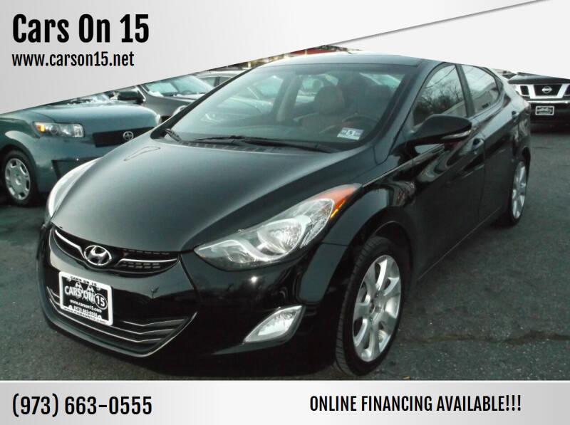 2012 Hyundai Elantra for sale at Cars On 15 in Lake Hopatcong NJ