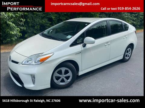 2012 Toyota Prius for sale at Import Performance Sales in Raleigh NC