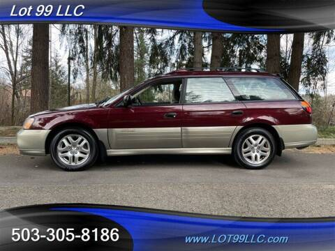 2001 Subaru Outback for sale at LOT 99 LLC in Milwaukie OR