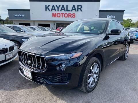 2020 Maserati Levante for sale at KAYALAR MOTORS in Houston TX