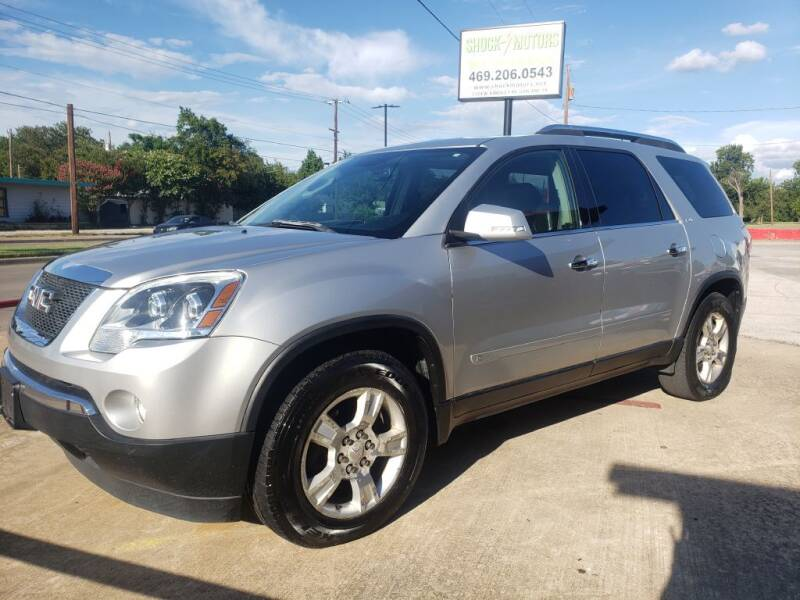 2009 GMC Acadia for sale at Shock Motors in Garland TX