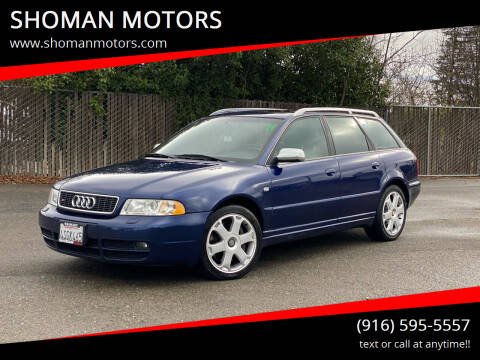 2001 Audi S4 for sale at SHOMAN MOTORS in Davis CA