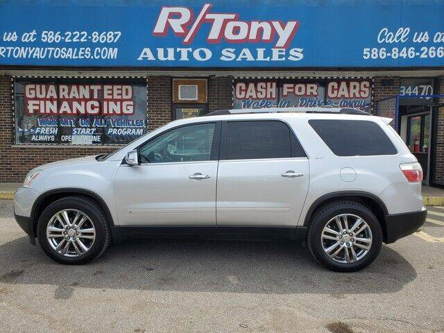 2010 GMC Acadia for sale at R Tony Auto Sales in Clinton Township MI
