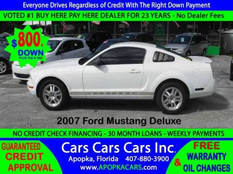 2007 Ford Mustang for sale at CARS CARS CARS INC in Apopka FL