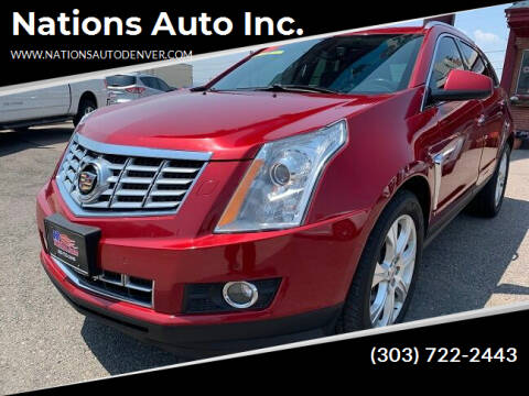 2013 Cadillac SRX for sale at Nations Auto Inc. in Denver CO