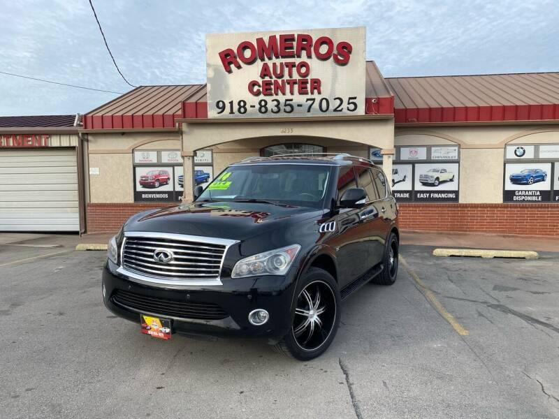 2014 Infiniti QX80 for sale at Romeros Auto Center in Tulsa OK