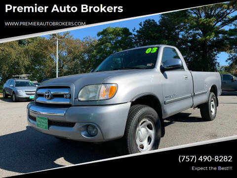 2003 Toyota Tundra for sale at Premier Auto Brokers in Virginia Beach VA