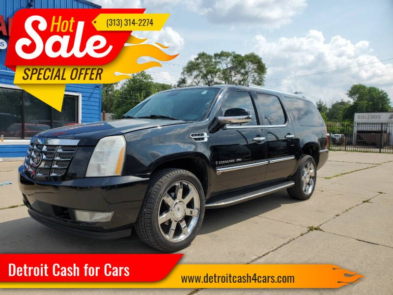 2007 Cadillac Escalade ESV for sale at Detroit Cash for Cars in Warren MI