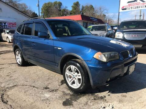2006 BMW X3 for sale at SR Motors Inc in Gainesville GA