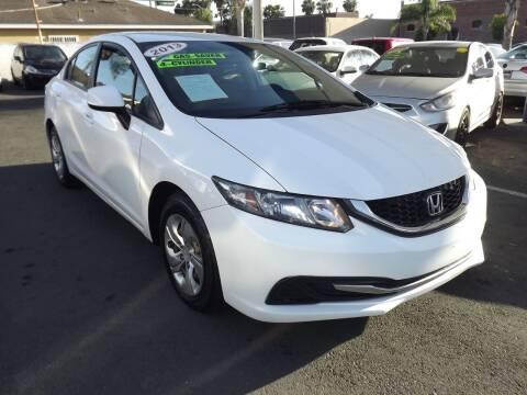 2013 Honda Civic for sale at PACIFICO AUTO SALES in Santa Ana CA