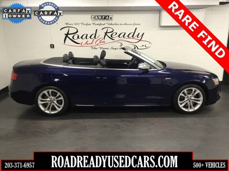 2013 Audi S5 for sale at Road Ready Used Cars in Ansonia CT