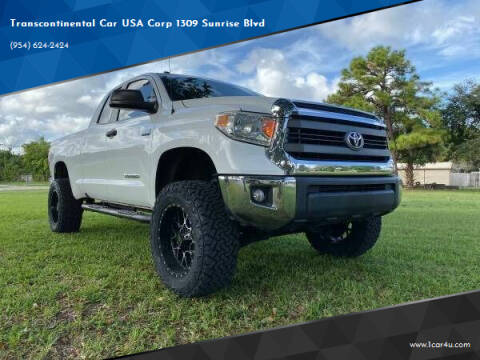 2014 Toyota Tundra for sale at Transcontinental Car in Fort Lauderdale FL