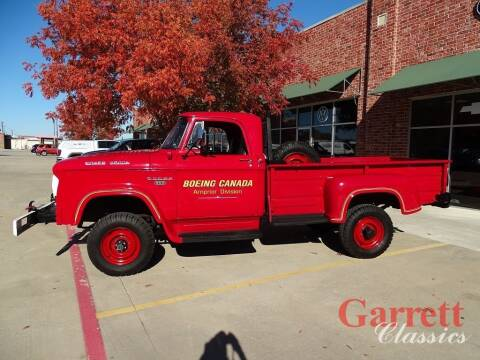 1968 Dodge Power Wagon for sale at Garrett Classics in Lewisville TX