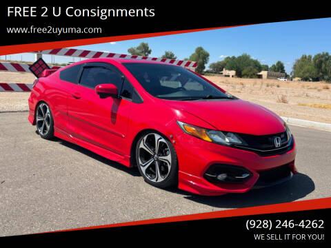 2014 Honda Civic for sale at FREE 2 U Consignments in Yuma AZ