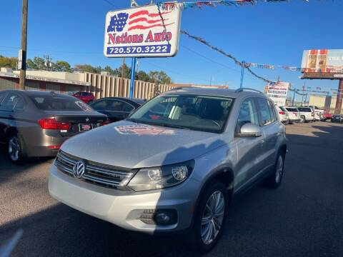 2012 Volkswagen Tiguan for sale at Nations Auto Inc. II in Denver CO