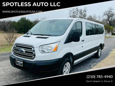 2019 Ford Transit Passenger for sale at SPOTLESS AUTO LLC in San Antonio TX