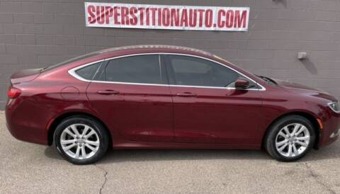 2015 Chrysler 200 for sale at Superstition Auto in Mesa AZ