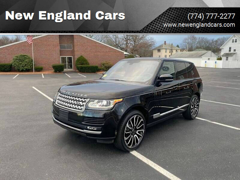 2013 Land Rover Range Rover for sale at New England Cars in Attleboro MA