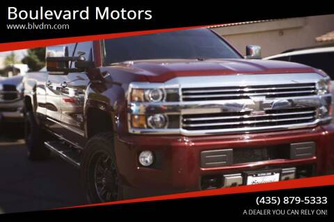 2016 Chevrolet Silverado 3500HD for sale at Boulevard Motors in St George UT