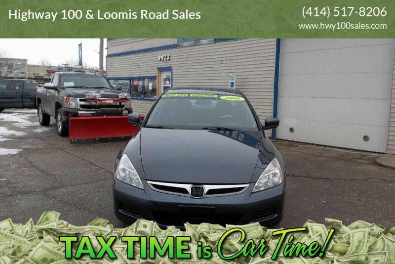 2006 Honda Accord for sale at Highway 100 & Loomis Road Sales in Franklin WI