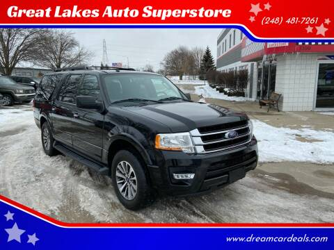 2016 Ford Expedition EL for sale at Great Lakes Auto Superstore in Pontiac MI