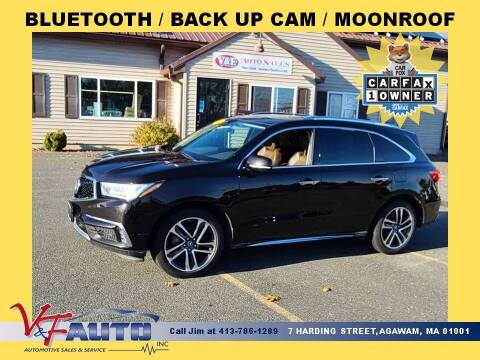 2017 Acura MDX for sale at V & F Auto Sales in Agawam MA