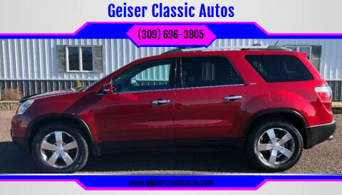 2012 GMC Acadia for sale at Geiser Classic Autos in Roanoke IL