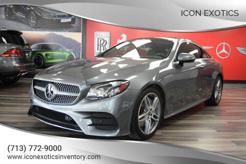 2018 Mercedes-Benz E-Class for sale at Icon Exotics in Houston TX