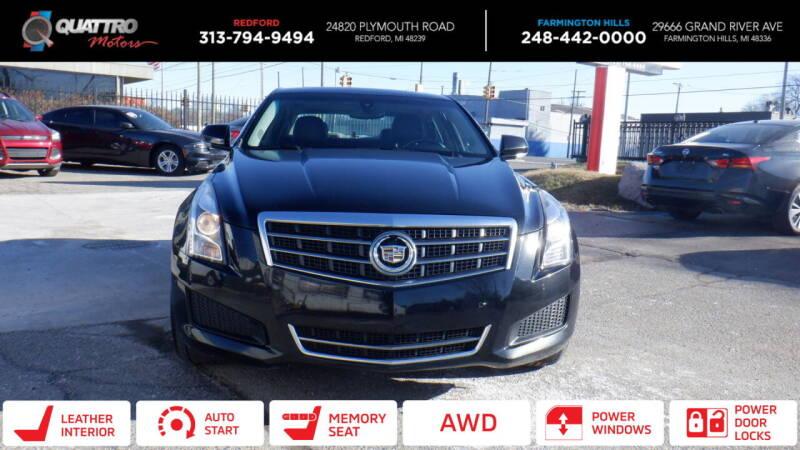 2013 Cadillac ATS for sale at Quattro Motors 2 in Farmington Hills MI
