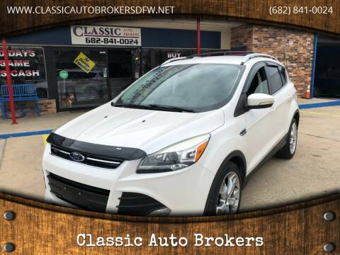 2014 Ford Escape for sale at Classic Auto Brokers in Haltom City TX