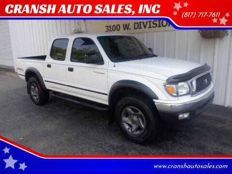 2002 Toyota Tacoma for sale at CRANSH AUTO SALES, INC in Arlington TX