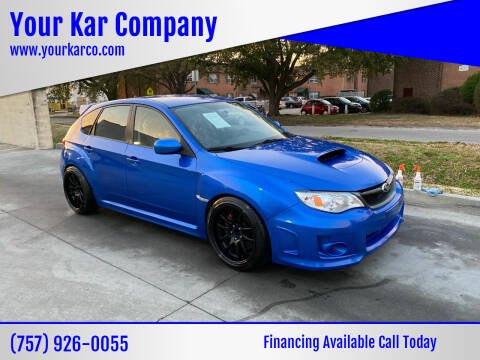 2013 Subaru Impreza for sale at Your Kar Company in Norfolk VA