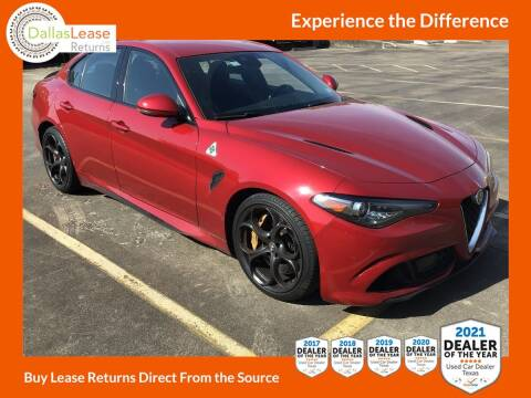 2017 Alfa Romeo Giulia Quadrifoglio for sale at Dallas Auto Finance in Dallas TX